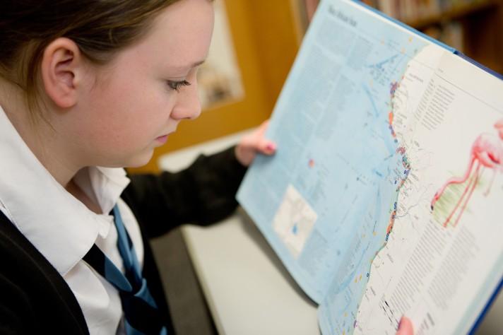 Geography girl landscape