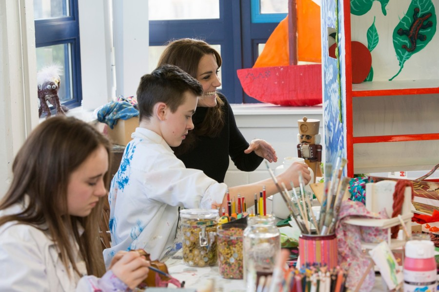The Duchess of Cambridge, Royal Patron of The Art Room visits us at Wester Hailes